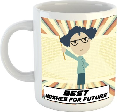 Huppme Best Wishes For Your Future White  Ceramic Mug