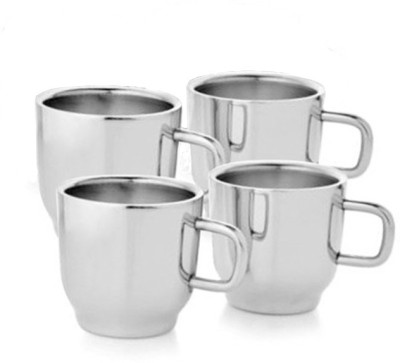 Verow Double Wall Cup Set of 4 Stainless Steel Mug