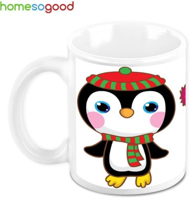 HomeSoGood Fashion Crazy Penguins Ceramic Mug