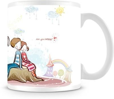 Shoprock Couples Thinking in the Garden Coffee Ceramic Mug