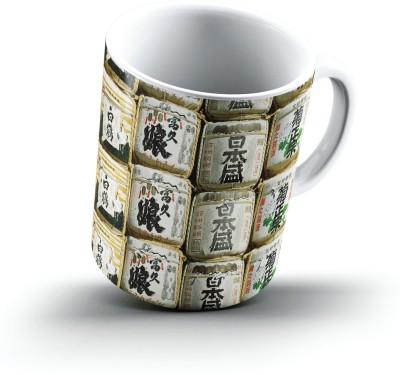 Ucard Sake Casks Asakusa Shrine Tokyo Japan2666 Bone China, Ceramic, Porcelain Mug
