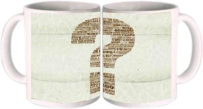 Shopkeeda Question Mark Ceramic Mug