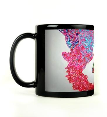 Rockmantra Dragon Abstract Art Ceramic Mug
