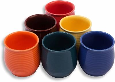 MC SID RAZZ Coloured Glazed Terracotta Chai/Tea Kulhad Cups Ceramic Mug