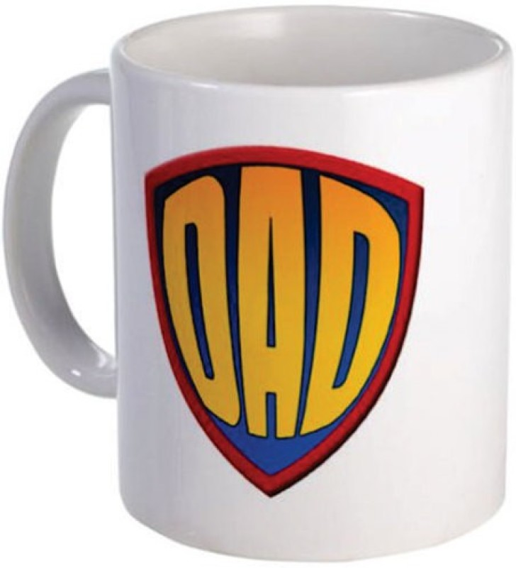 Giftsmate Super Dad Ceramic Mug(330 ml)