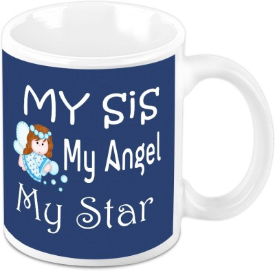 HomeSoGood My Sis My Angel Ceramic Mug