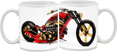 Goonlineshop Custom Chopper Red Ceramic Mug