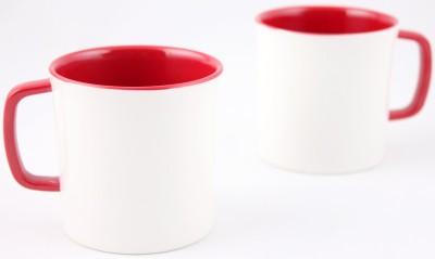 Hi Luxe Ivory Melamine 42248 Ivory - Red Melamine Mug
