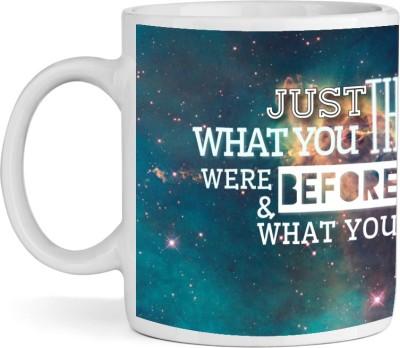 Shopkeeda Think Now Ceramic Mug