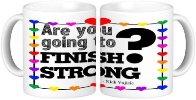 Shopmillions Finish Strong Ceramic Mug