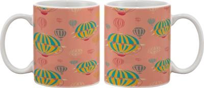 Artifa Hot Air Balloons Porcelain, Ceramic Mug