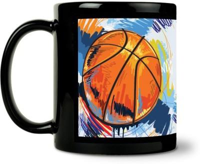 AURRA PRINTED BLACK-1020 Ceramic Mug