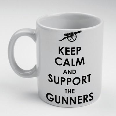 Prokyde Prokyde Keep Calm and Support The Gunners  Ceramic Mug