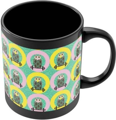 PosterGuy Quirky Owls Digital Art Pattern Art Ceramic Mug