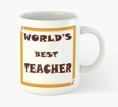 Deeher Gifts World,s best teacher Ceramic Mug