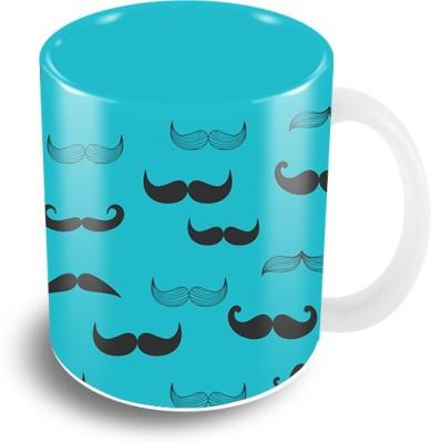 The Crazy Me Moustache Ceramic Mug