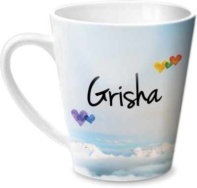Hot Muggs Simply Love You Grisha Conical  Ceramic Mug