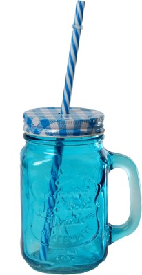 DUCATI Colorful Designer Mason Jar Glass Mug