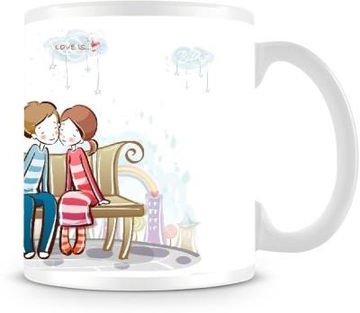 Shoprock Couples on Bench Coffee Ceramic Mug
