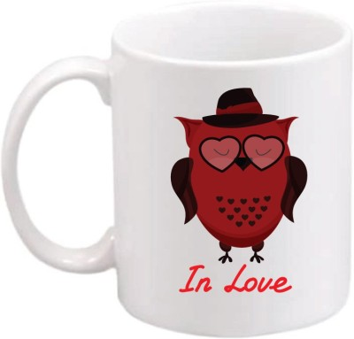 ONLY OWL Everyday Gift Valentine In Love OWL727 Magic Ceramic Mug