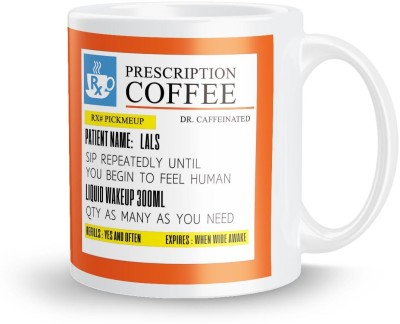 posterchacha PersonalizedPrescription Tea And Coffee  For Patient Name Lals For Gift And Self Use Ceramic Mug