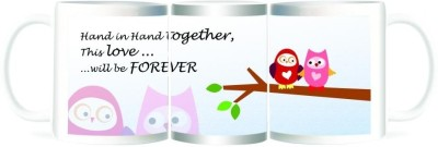 Refeel Gifts Hand in Hand Together: This Love Will Be forever Ceramic Mug