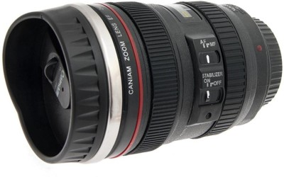 eDeal Premium Camera Lens Plastic, Stainless Steel Mug