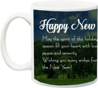IZOR Gift for Happy new year;may the spirit of this holiday season fill your heart with love printed Ceramic Mug