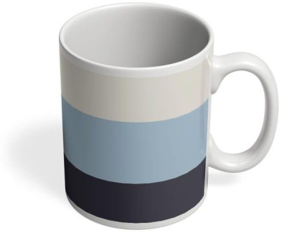 PosterGuy Blue Hued Stripes Art, Color, Colour, Stripes, Multicolour, Iphone, Cases, Shade Ceramic Mug