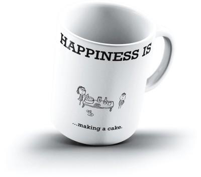 Ucard Happiness Is1763 Bone China, Ceramic, Porcelain Mug