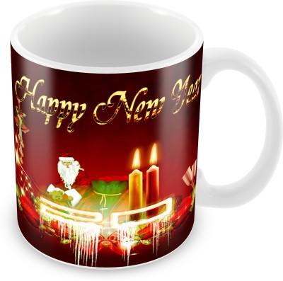 Prinzox Happy new year with santa claus Ceramic Mug