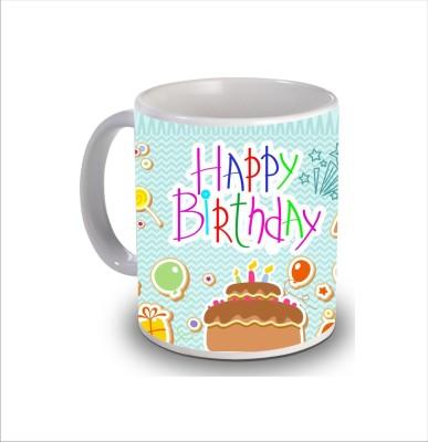 Print Hello Happy Birthday Cake b255 Ceramic Mug