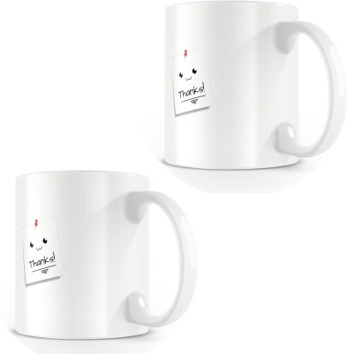posterchacha Thanks Simple Post It Note White Tea And Coffee For Gift Use To Loved One Bone China Mug