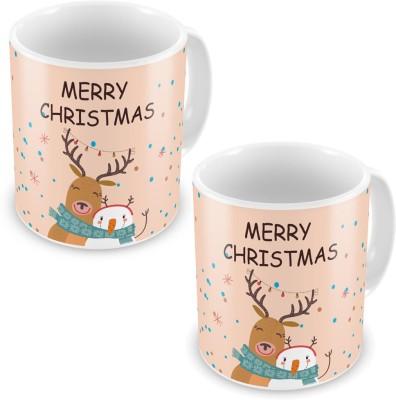 Indian Gift Emporium Cute Cartoons Print Pink Coffee s Pair 608 Ceramic Mug