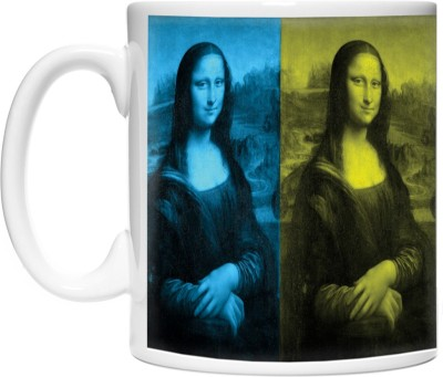 Pinqart Monalisa in 4 Colors Ceramic Mug