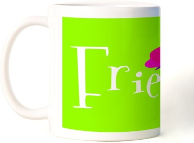 Rockmantra Friends Butterfly Happy Friendship Day Ceramic Mug