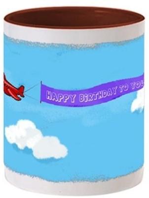 Allthingscustomized Happy Birthday Cloud Print Cup Ceramic Mug