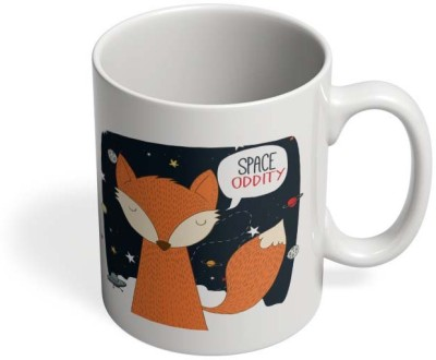 PosterGuy Space Oddity Fox, Fun, Quirky, Space, Space Oddity, Music, Funny, Happy, Ceramic Mug