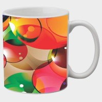 Printland Printland Bubbles White Coffee 350 - ml Ceramic Mug(350 ml) best price on Flipkart @ Rs. 249