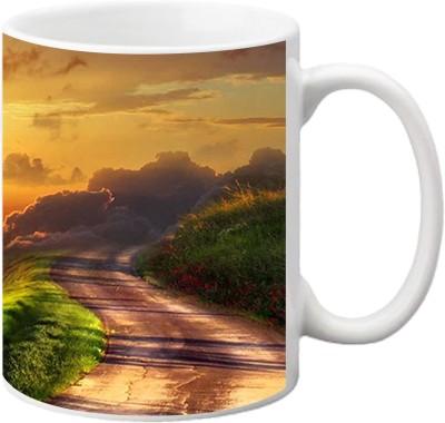 ezyPRNT Road Scene Ceramic Mug