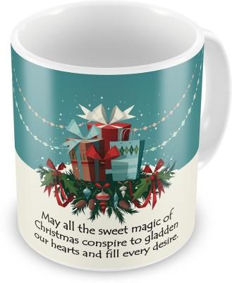 Indian Gift Emporium Fancy Printed Design Blue Coffee  609 Ceramic Mug