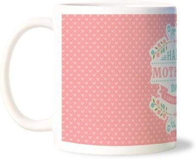 Lovely Collection Happy Mothers Day Designer Polka Dots Porcelain Mug