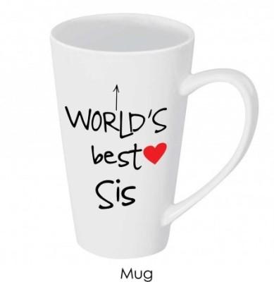 Giftsmate Worlds Best Sister Ceramic Mug