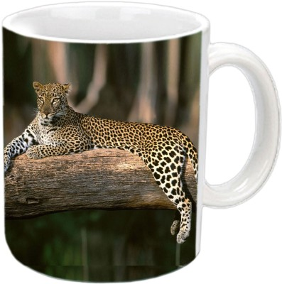 RajLaxmi Panther white Ceramic Mug