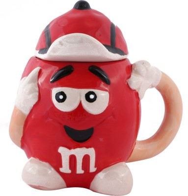 Emerge Red M &M Porcelain Mug