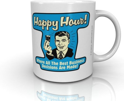 Bcreative Happy Hour! Where All The Best Business Decisions Are Made! (Officially Licensed) Ceramic Mug
