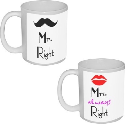 Tia creation Mr. And Mrs. Right  Ceramic Mug