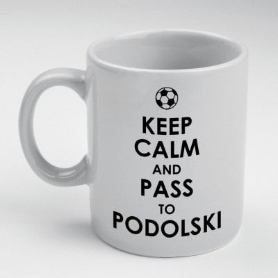 Prokyde Prokyde Keep Calm & pass to Podolski  Ceramic Mug
