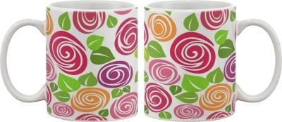 Artifa Colourful Abstract Porcelain, Ceramic Mug