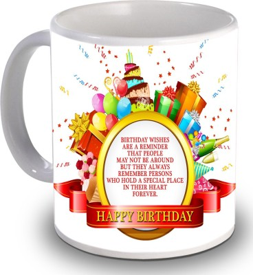 Print Helllo Happy Birthday R184 Ceramic Mug